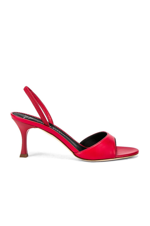 Giuseppe Zanotti Red Carpet Heel in Nappa Blood