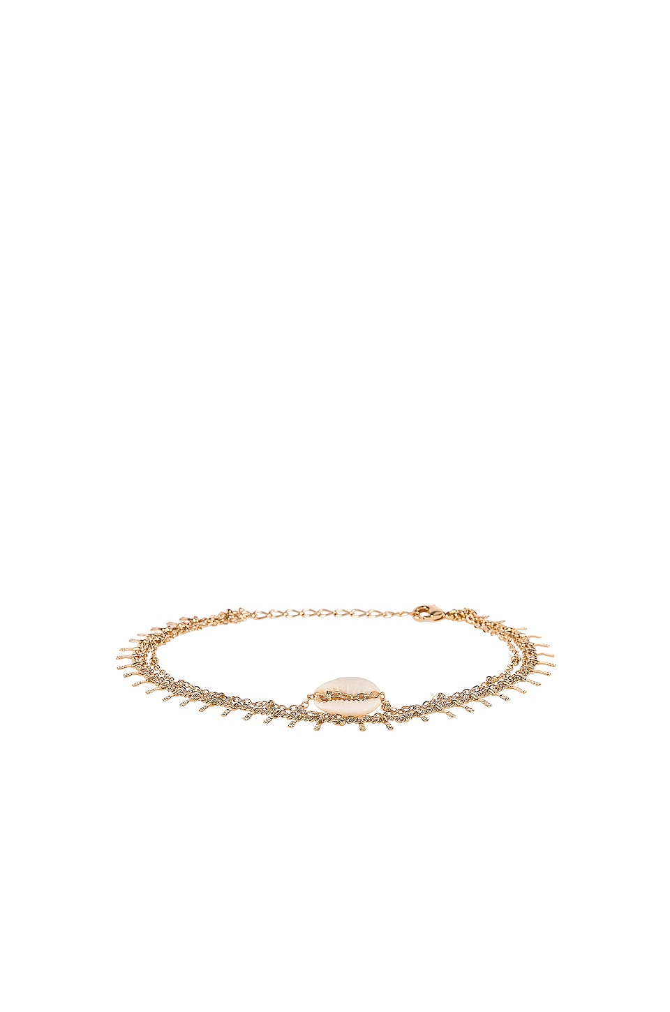 EIGHT by GJENMI JEWELRY Hawaii Multi Strand Anklet in Gold