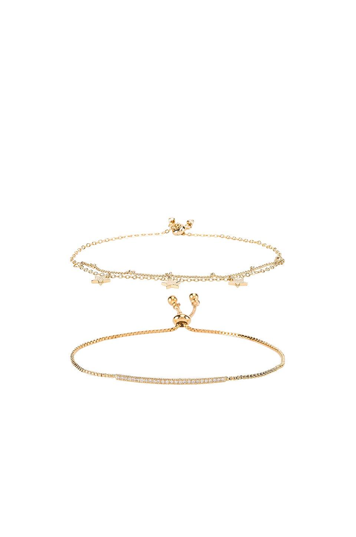 EIGHT by GJENMI JEWELRY Sparkle Bracelet Set in Gold