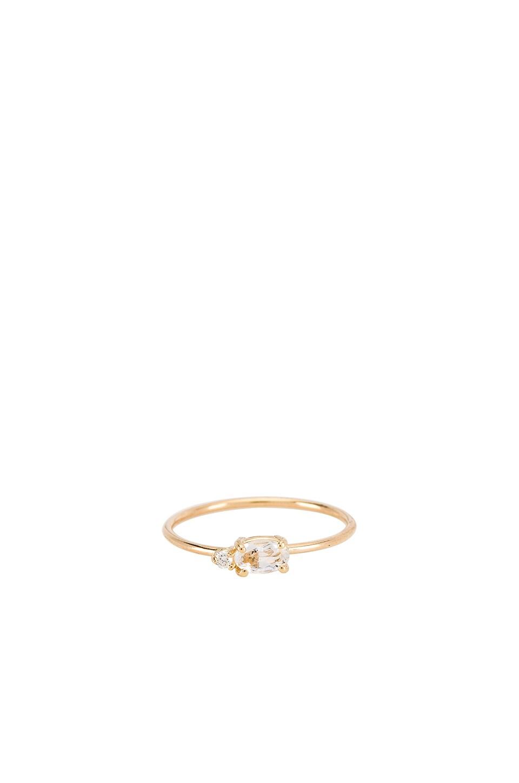 EIGHT by GJENMI JEWELRY x GJENMI Morning Dew White Topaz Ring in 14K Gold
