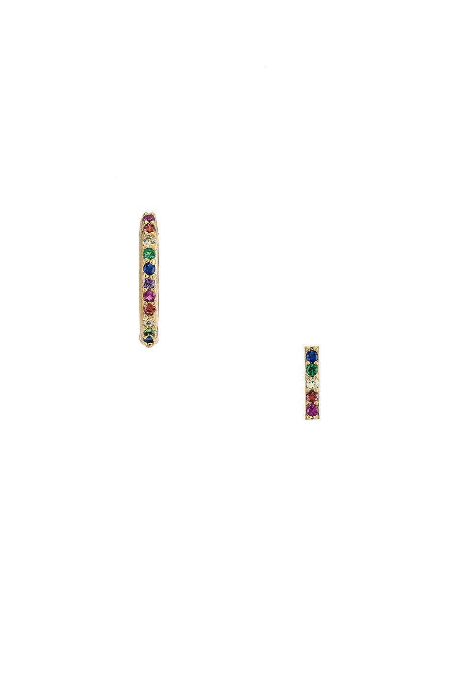 EIGHT by GJENMI JEWELRY CZ Rainbow Earring Set in Gold