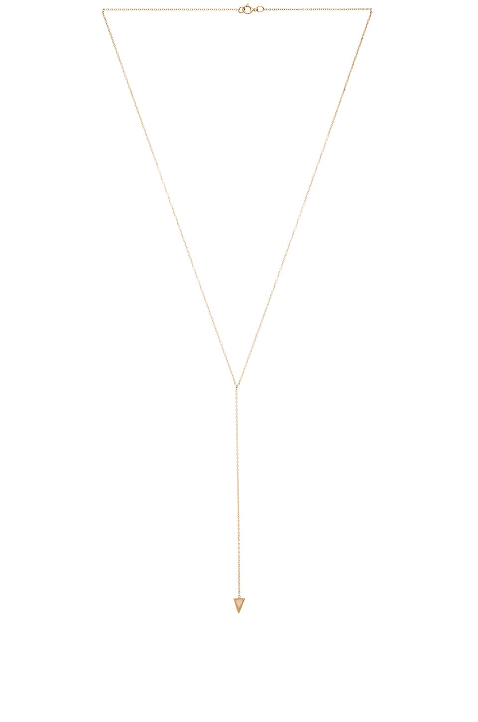 EIGHT by GJENMI JEWELRY Moonstone Bezel Lariat in Gold