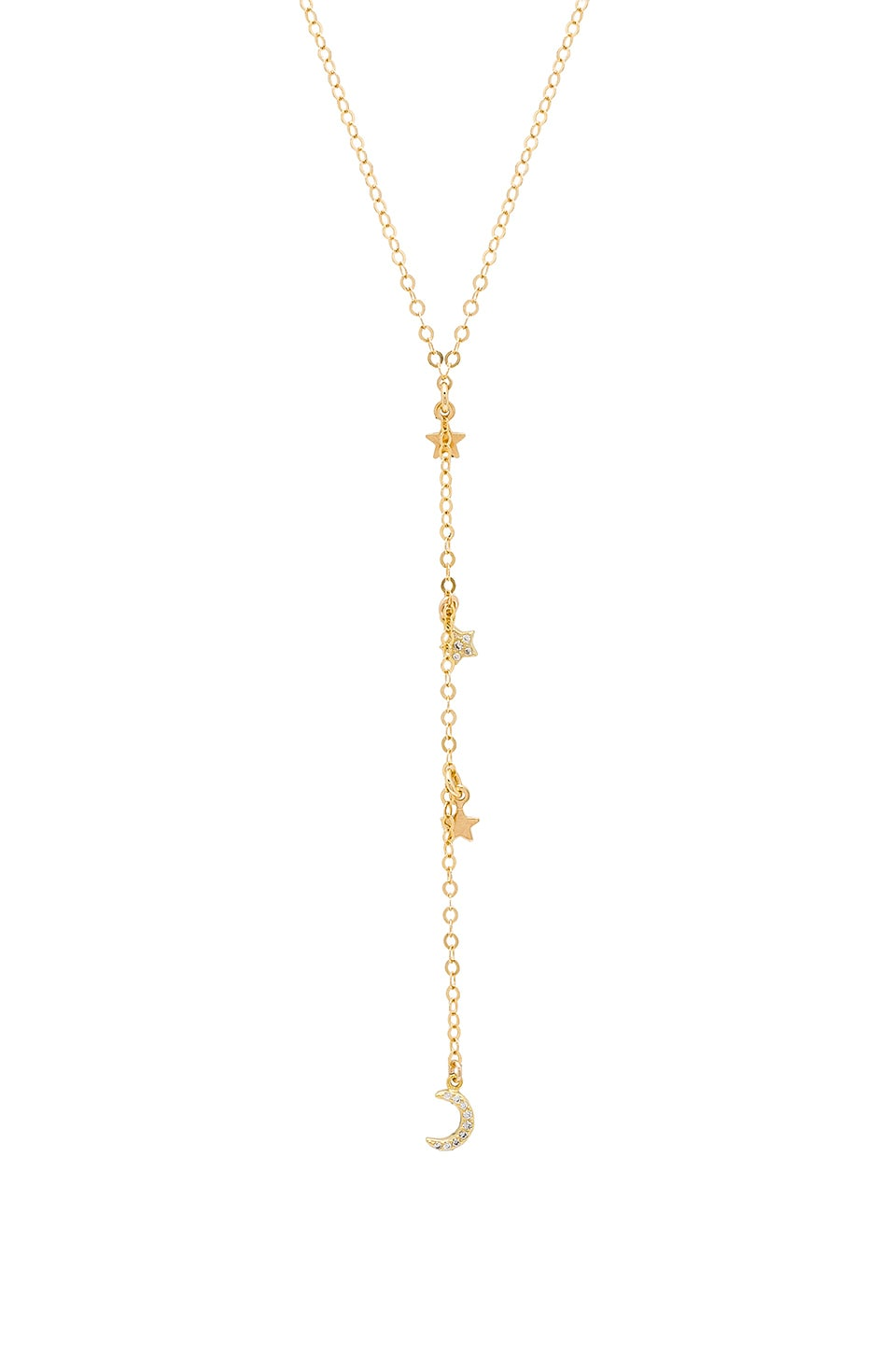 EIGHT BY GJENMI JEWELRY X Revolve Star And Moon Choker Lariat in Metallic Gold