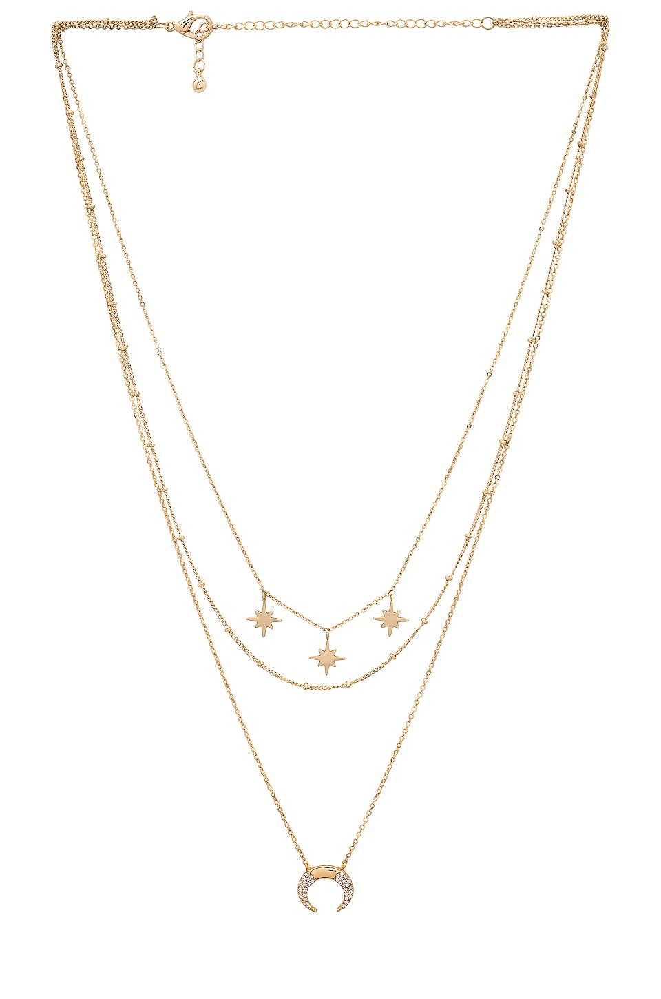 EIGHT by GJENMI JEWELRY North Star Layering Necklace in Gold