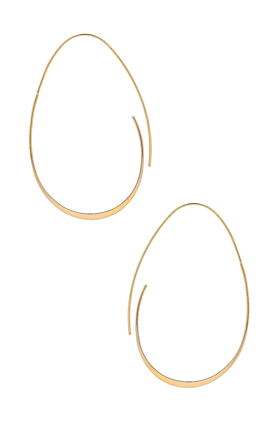 EIGHT by GJENMI JEWELRY Egg Hoops in 14K Plated Gold