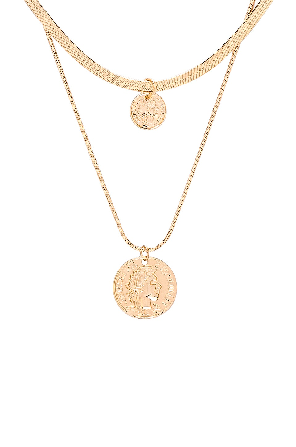 EIGHT BY GJENMI JEWELRY Double Coin Choker in Metallic Gold