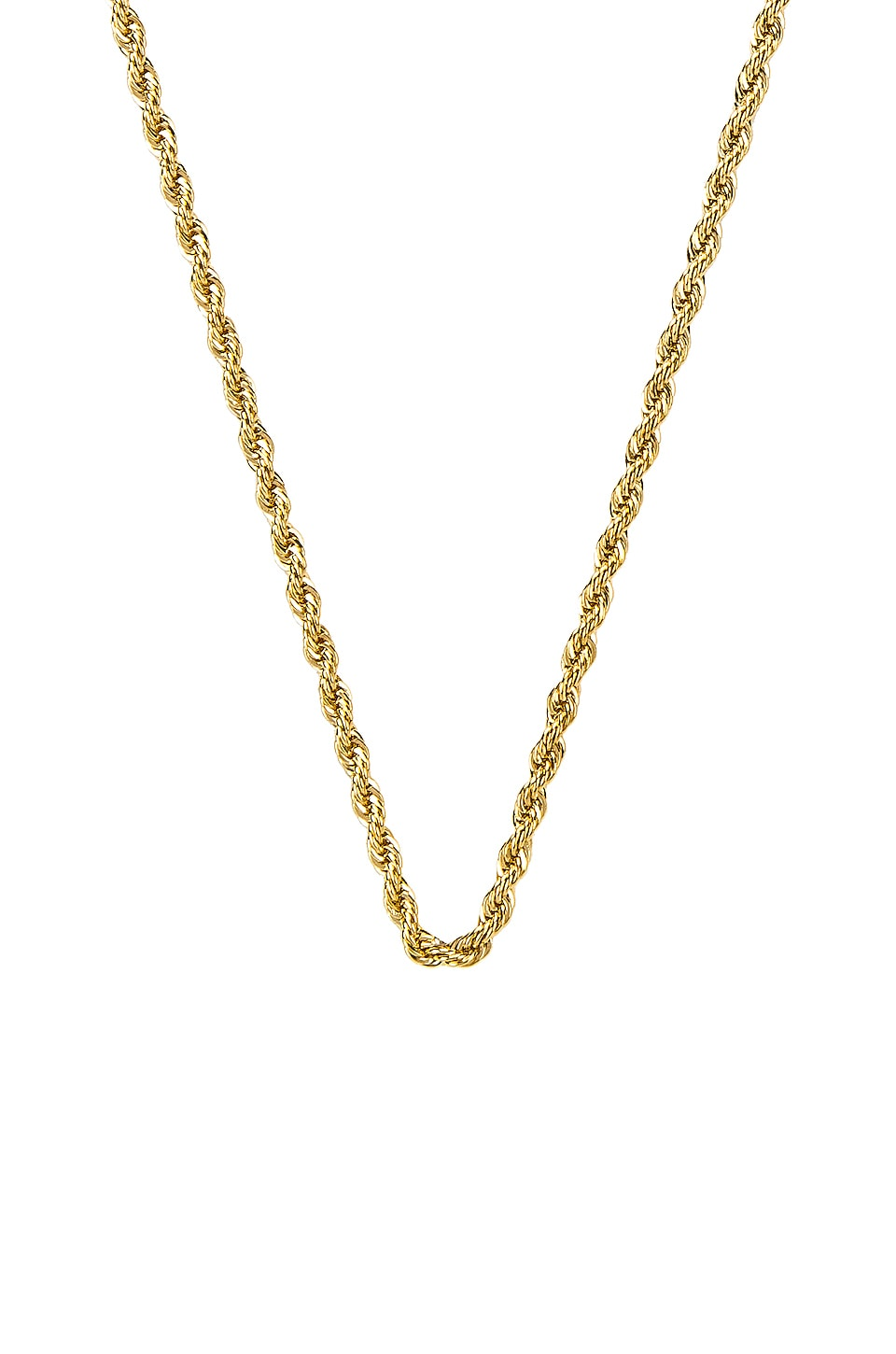 EIGHT by GJENMI JEWELRY Rope Layering Chain Necklace in Gold