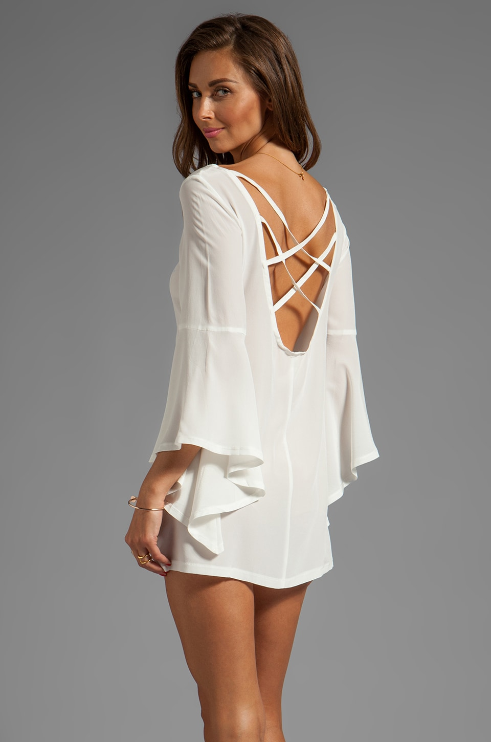 Gypsy Junkies Mini Tunic in White