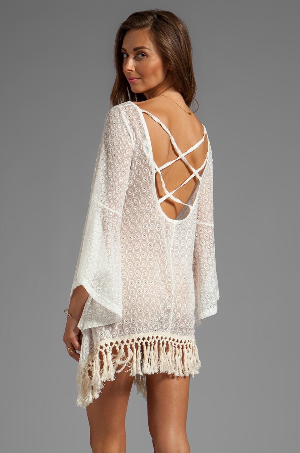 Gypsy Junkies Mimi Eyelet Tunic in White