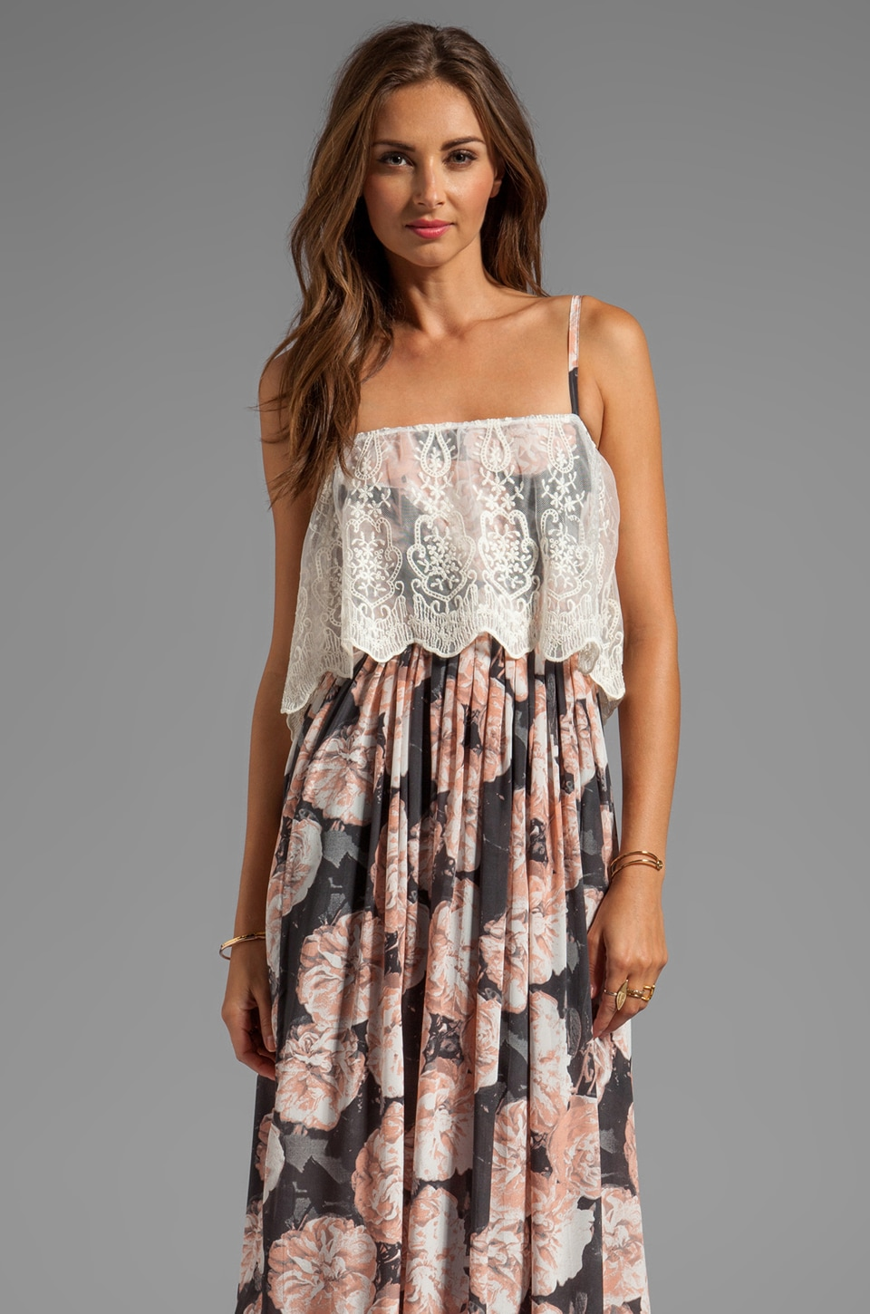 Gypsy Junkies Sloan Maxi Dress in Desert Rose