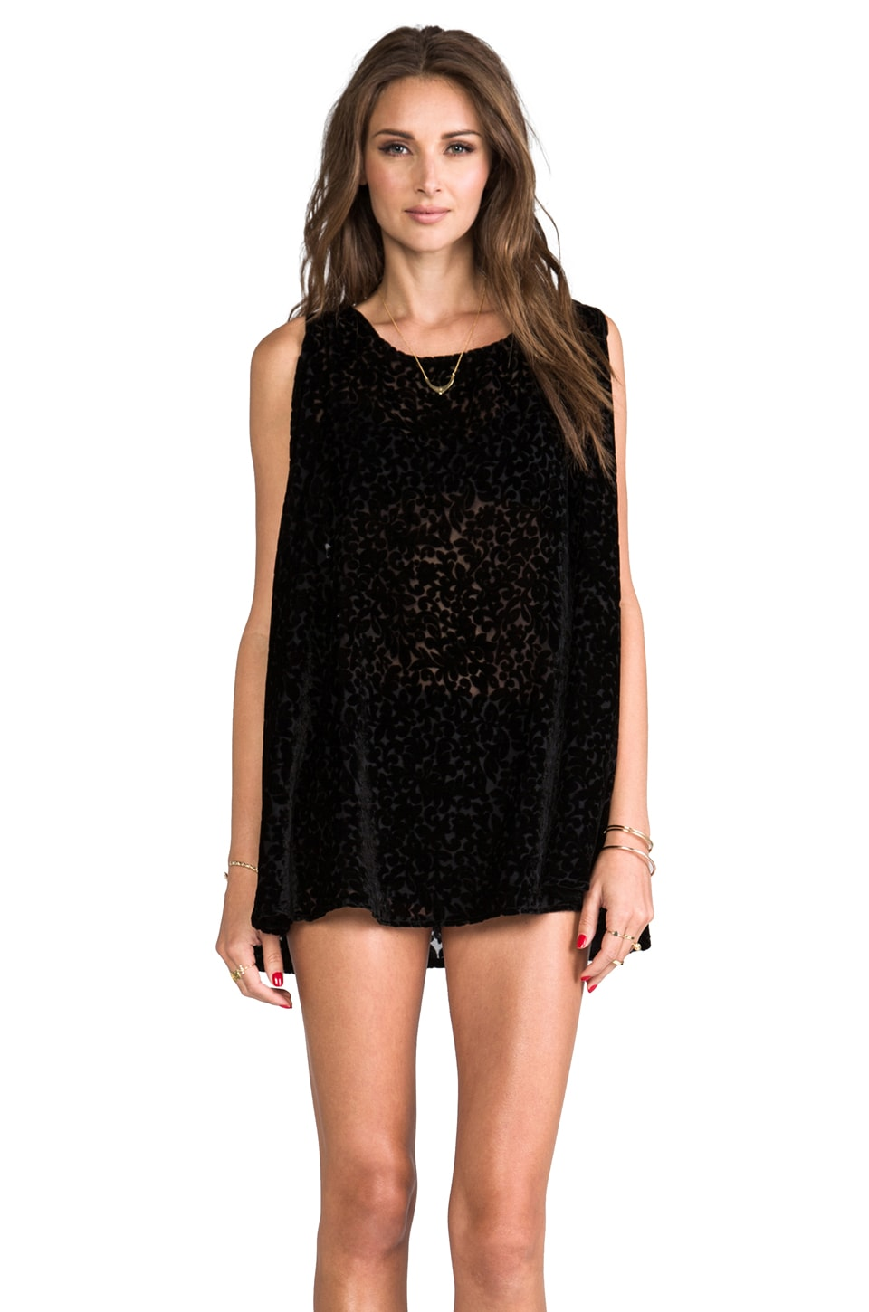 Gypsy Junkies Bang Bang Tunic in Black