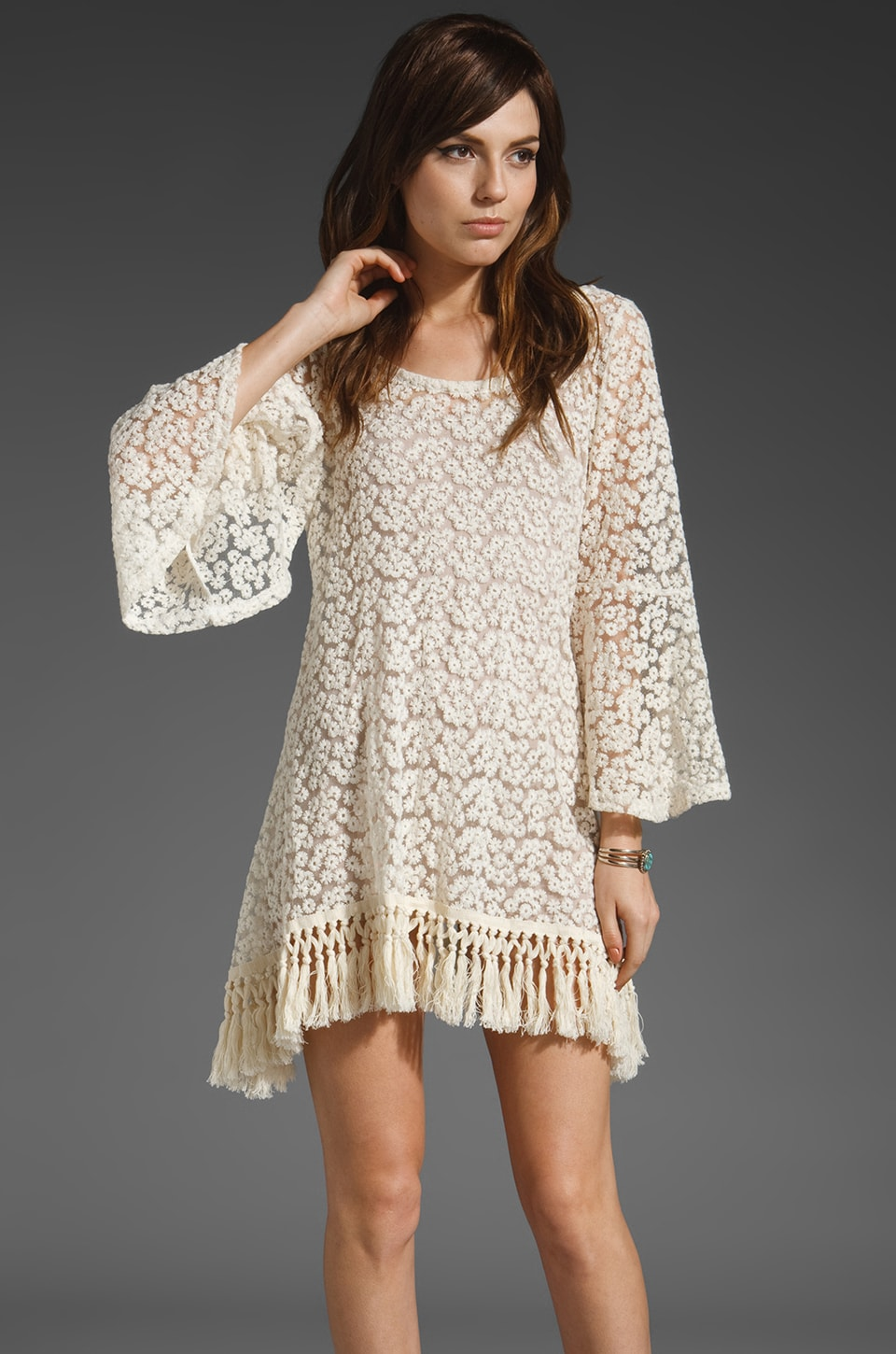 Gypsy Junkies Mimi Daisy Tunic in Cream