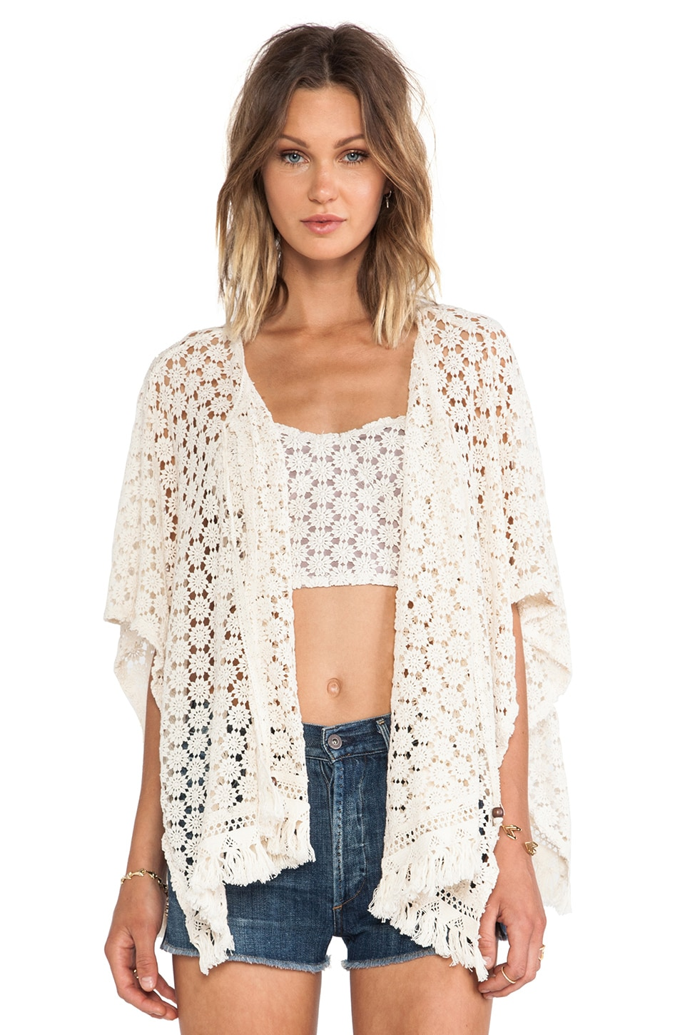 Gypsy Junkies Virginia Poncho in Daisy Lace