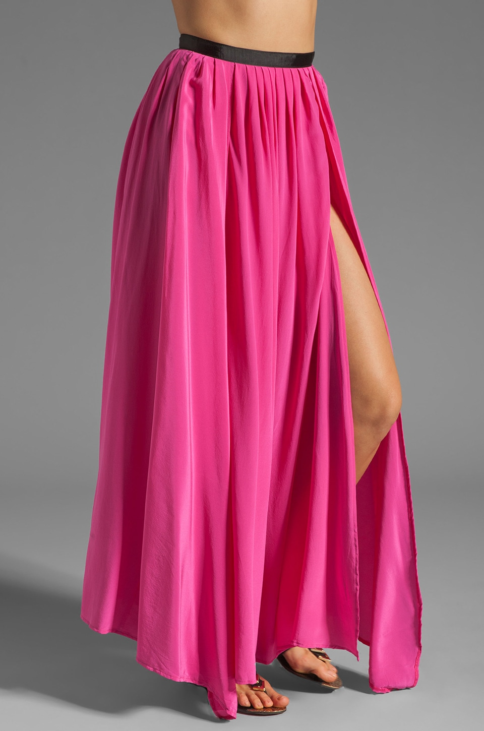 Gypsy Junkies Oceana High Slit Maxi Skirt in Pink