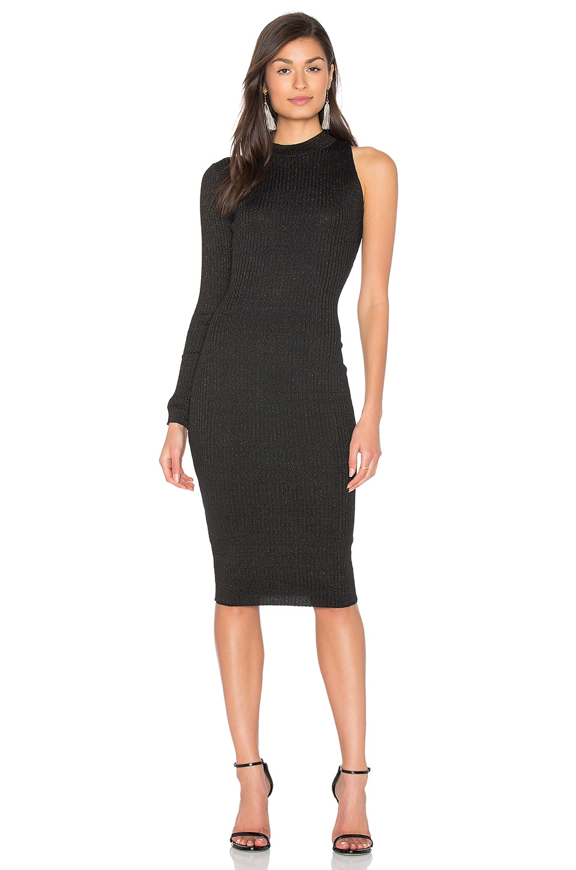 GLAMOROUS One Sleeve Dress in Black