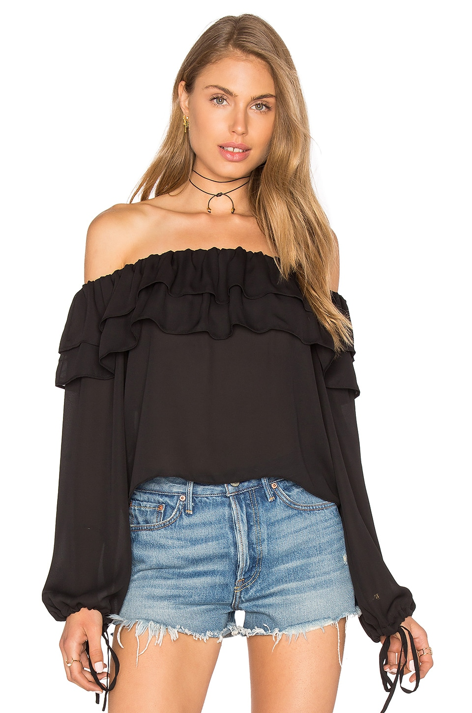 GLAMOROUS Off the Shoulder Top in Black