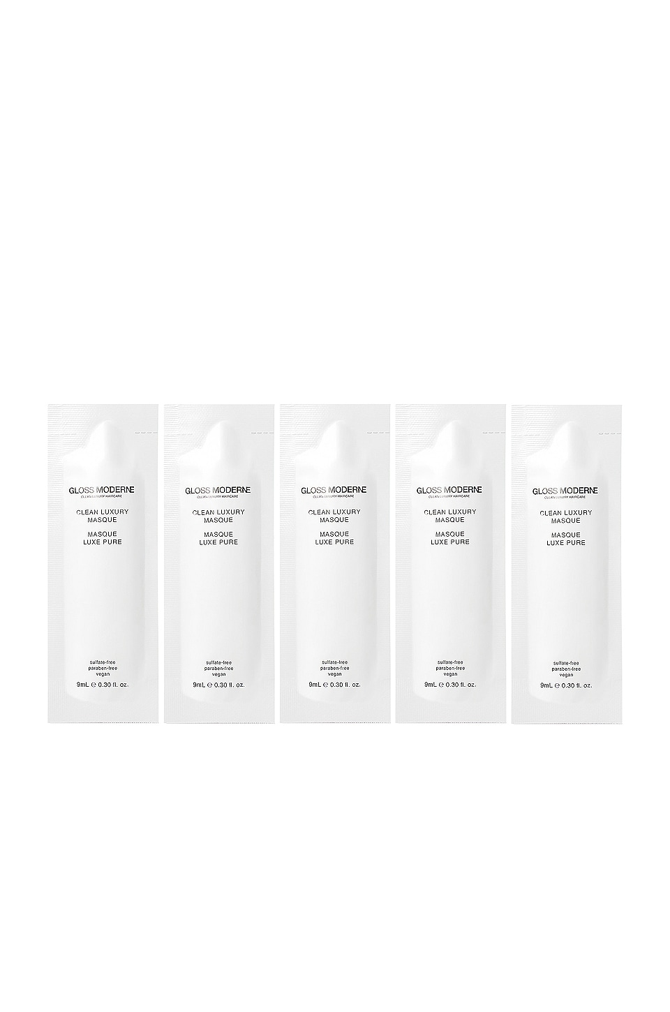 GLOSS MODERNE Clean Luxury Travel Masque 5 Pack