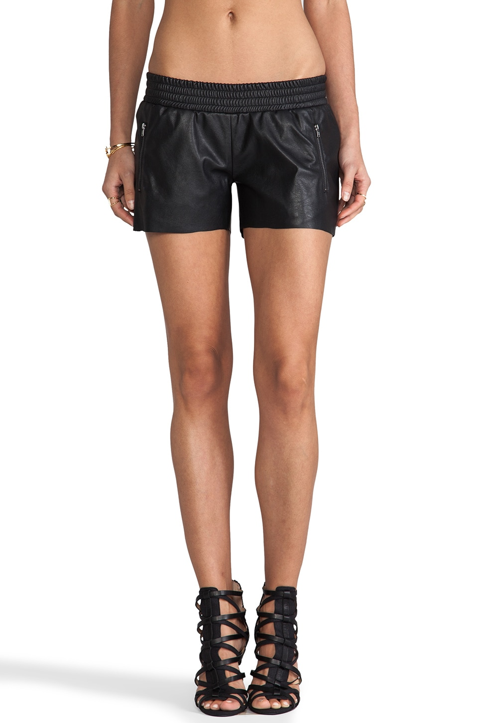 Generation Love June Zipper Running Short in Black