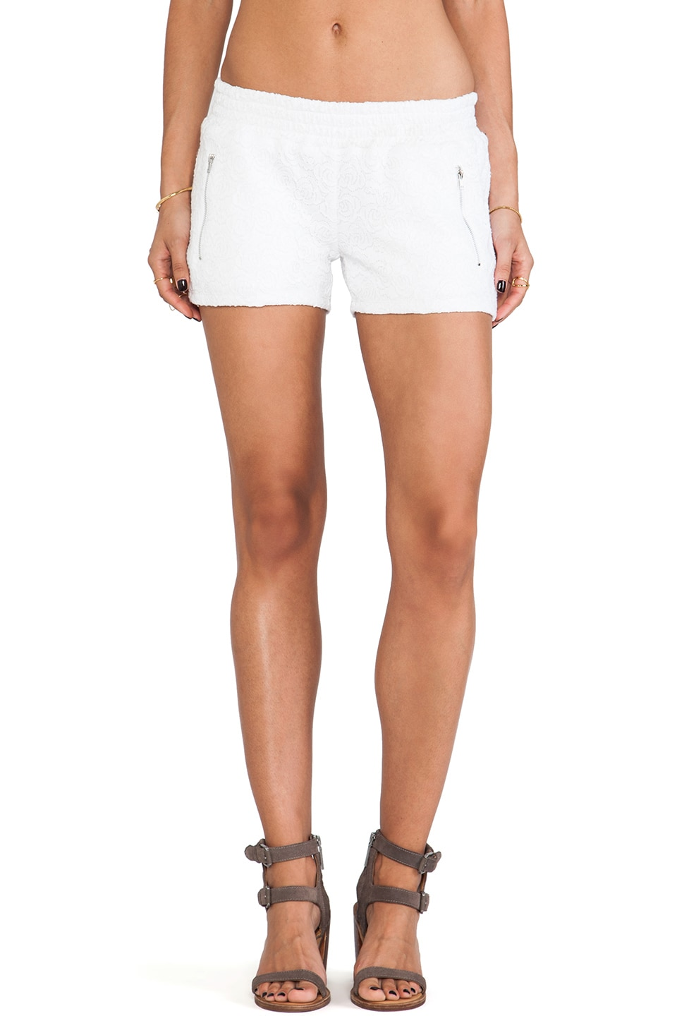Generation Love June Zipper Short in White