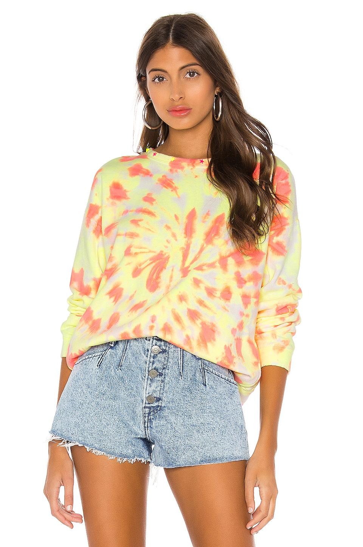 Generation Love Carter Tie Dye Sweatshirt in Neon Tie Dye