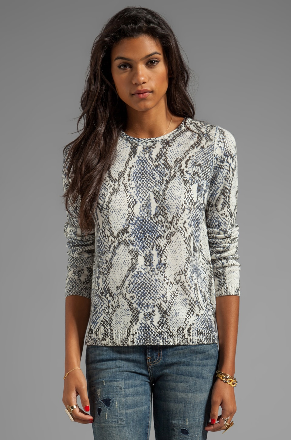 Generation Love Freja Snake Sweater in Blue