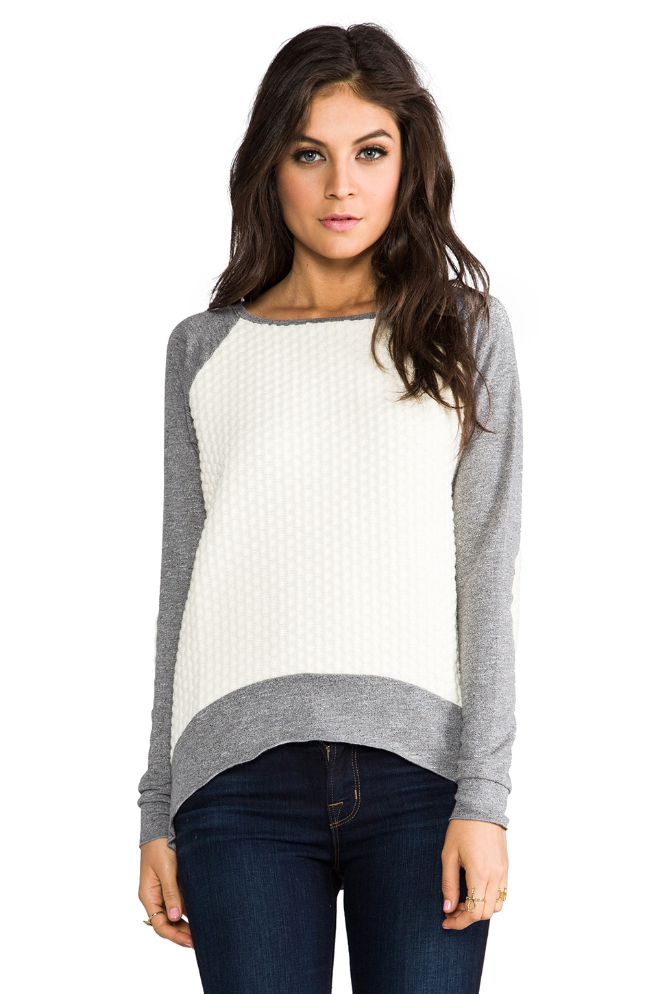 Generation Love Emma Popcorn Sweater in Heather Grey