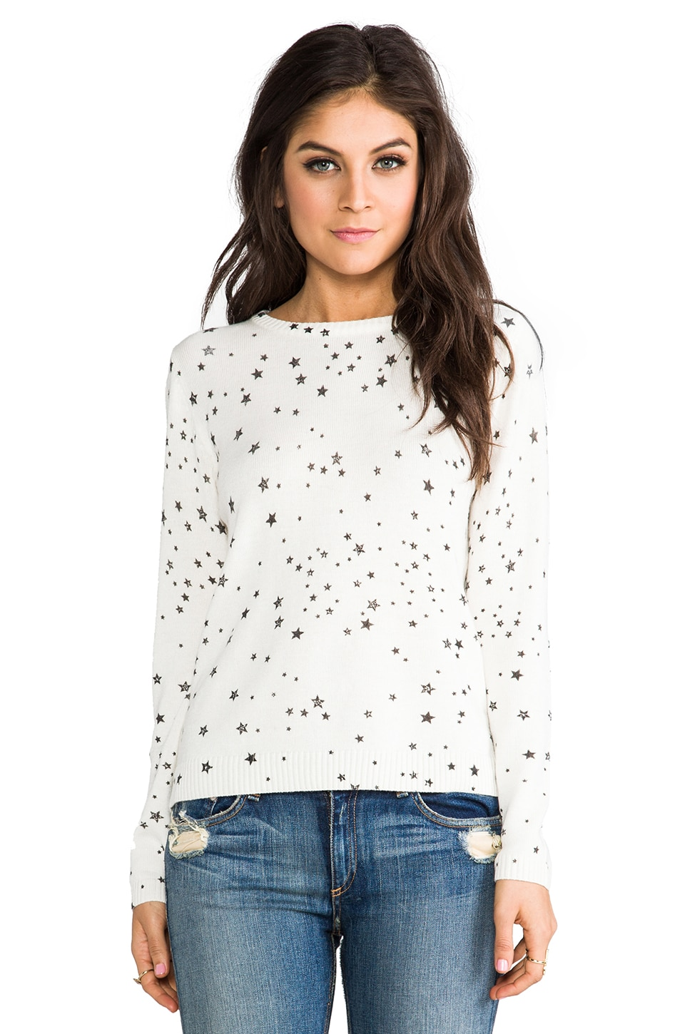 Generation Love Freja Star Sweater in White