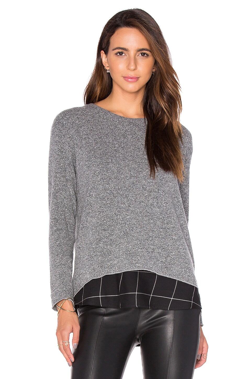 Generation Love Hannah Plaid Sweatshirt in Heather Grey & Black Plaid
