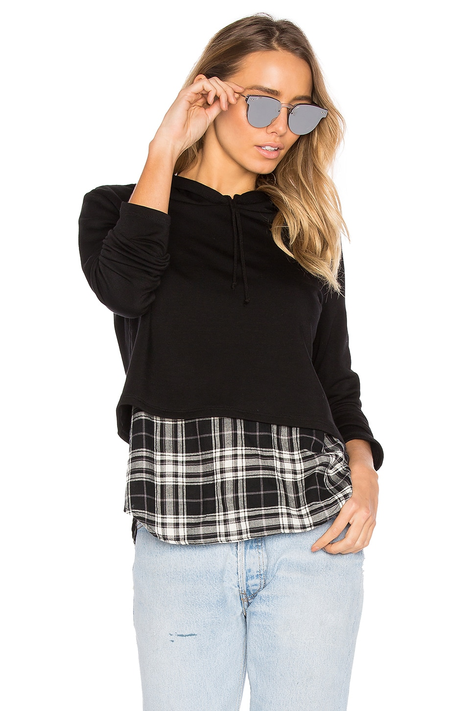 Chester Plaid Sweatshirt by Generation Love