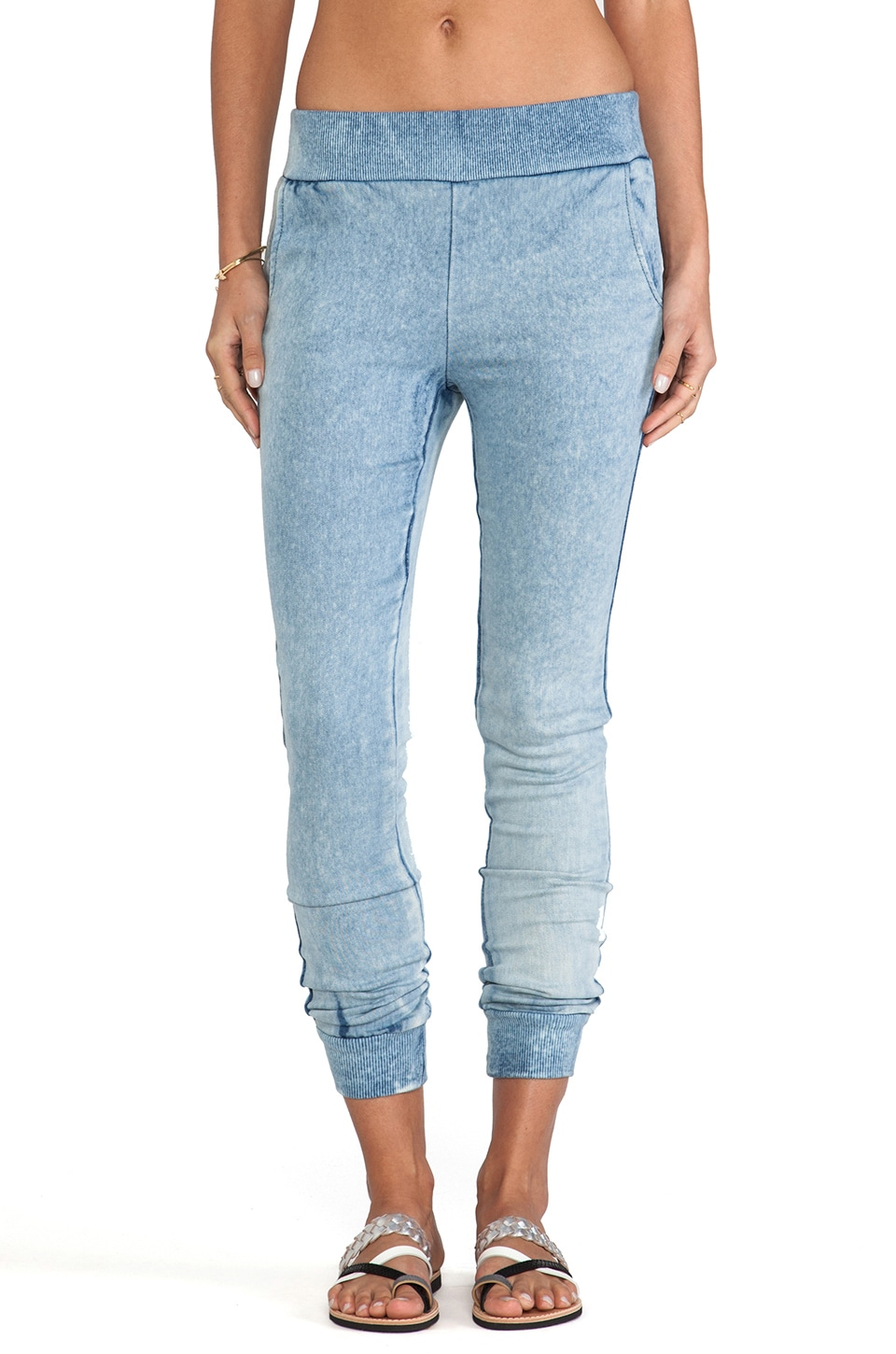 Generation Love Harper Denim Sweatpant in Stonewash