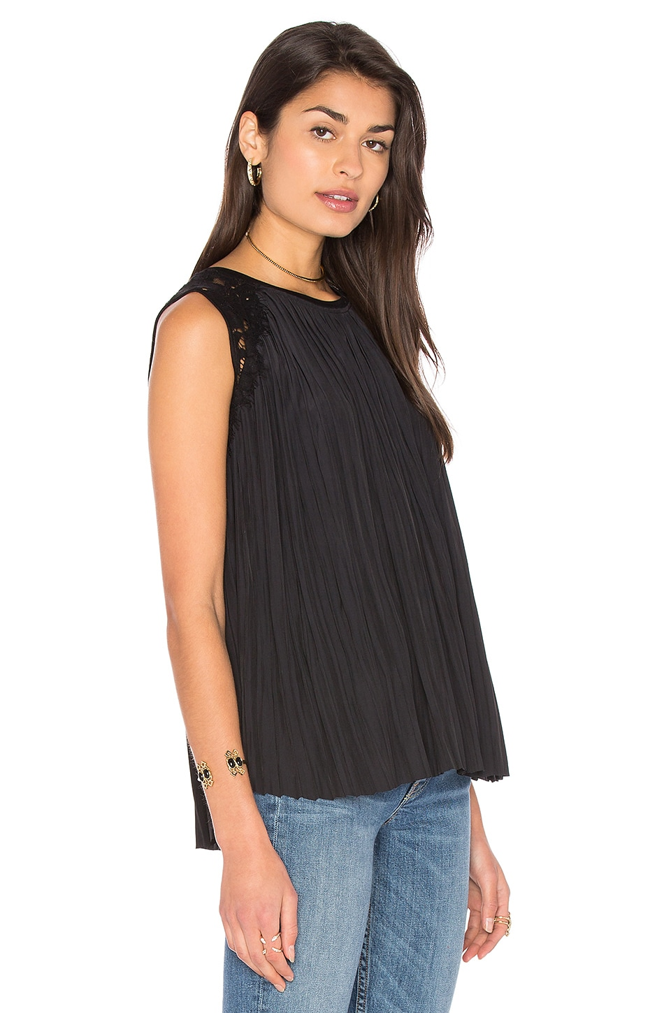 Jane Pleats Tank by Generation Love