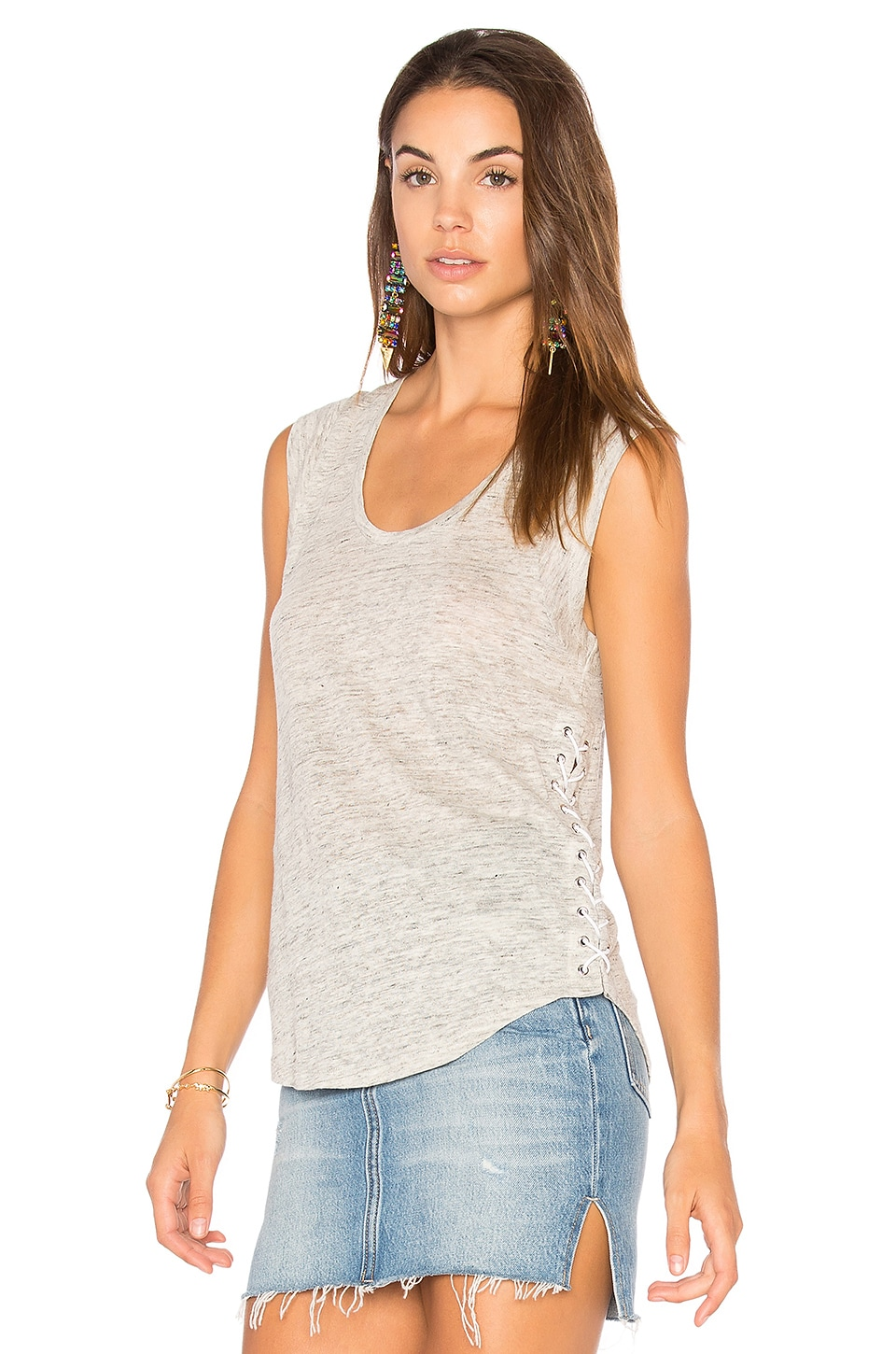 Madge Lace Up Tank by Generation Love
