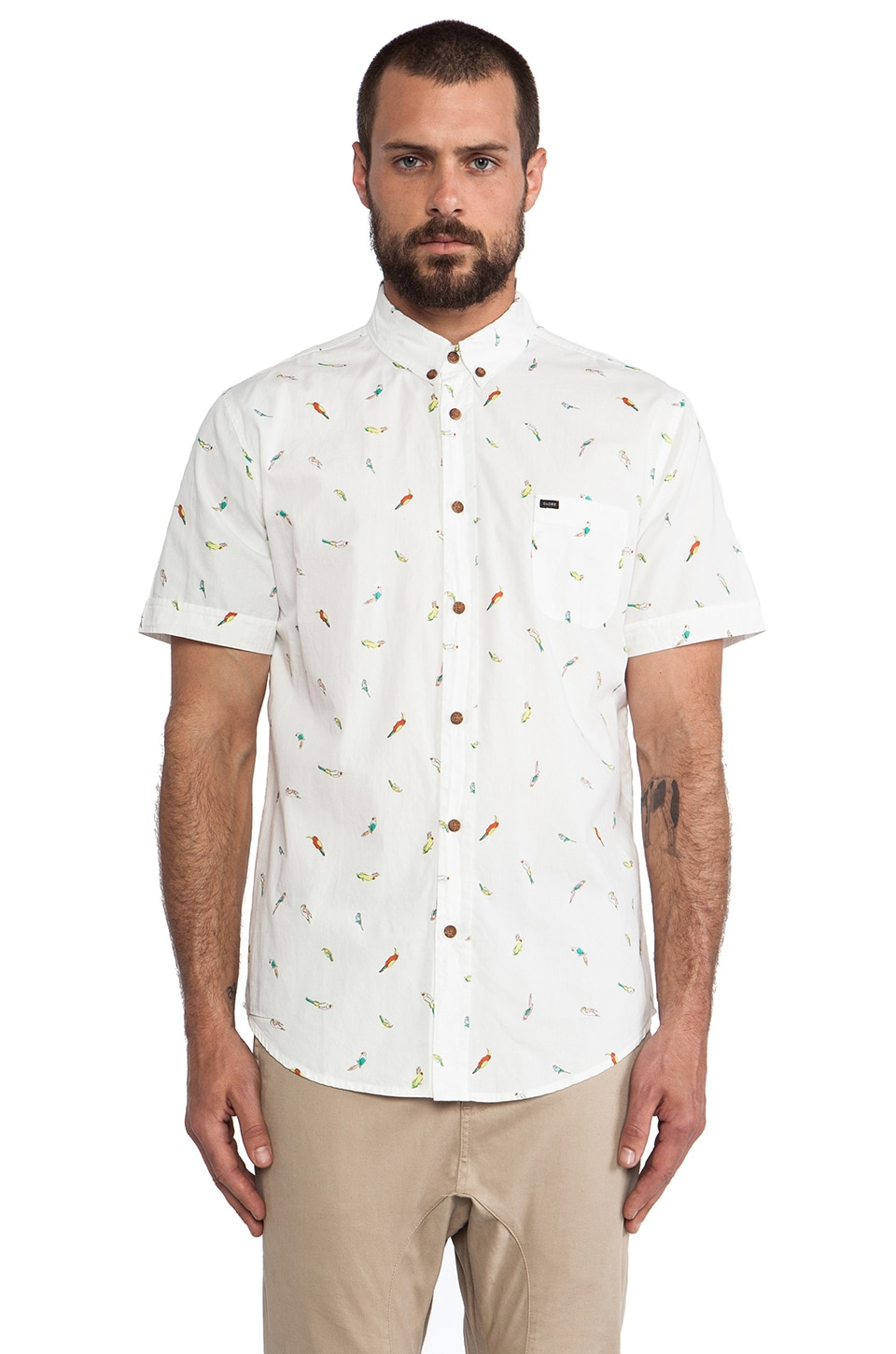 Globe Amazonia Button Up in Fog