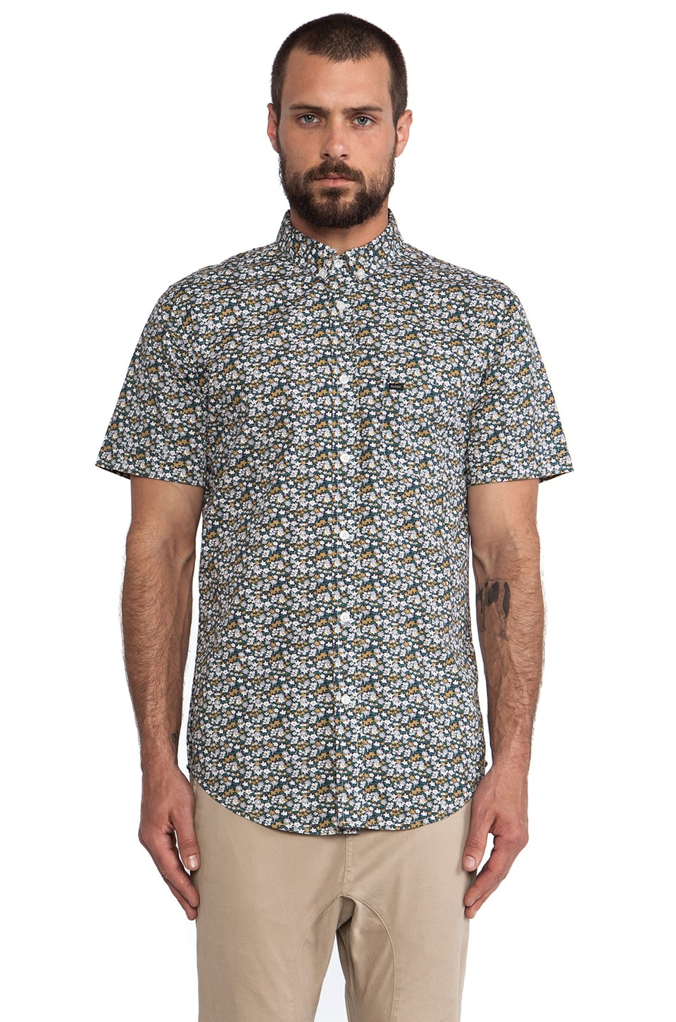 Globe Meadow Shirt in Evergreen