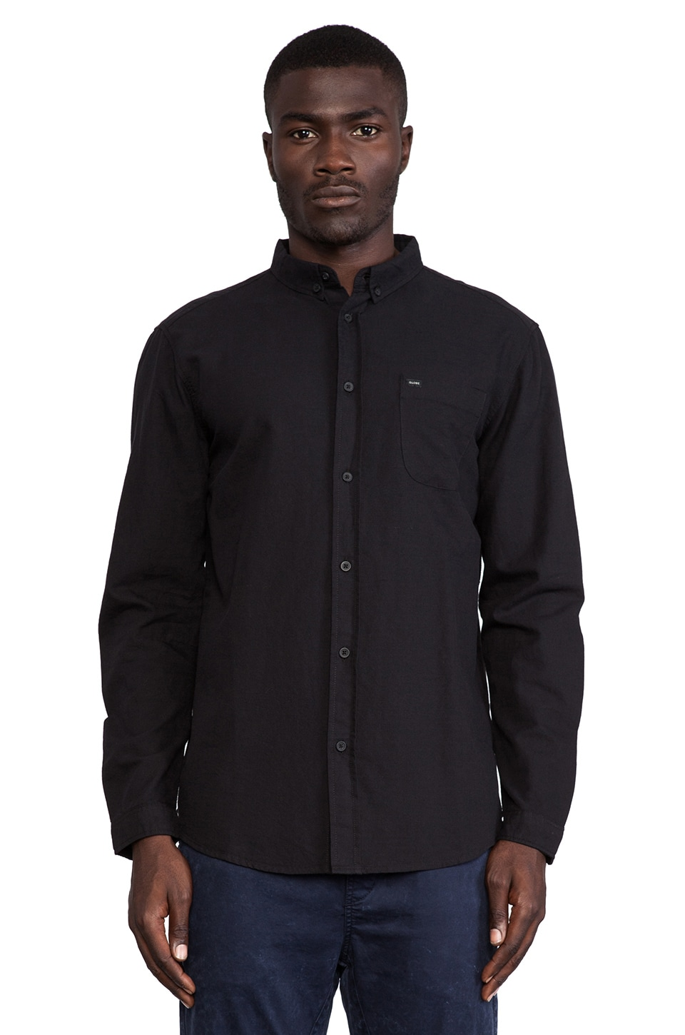 Globe Goodstock Oxford Button Down in Black