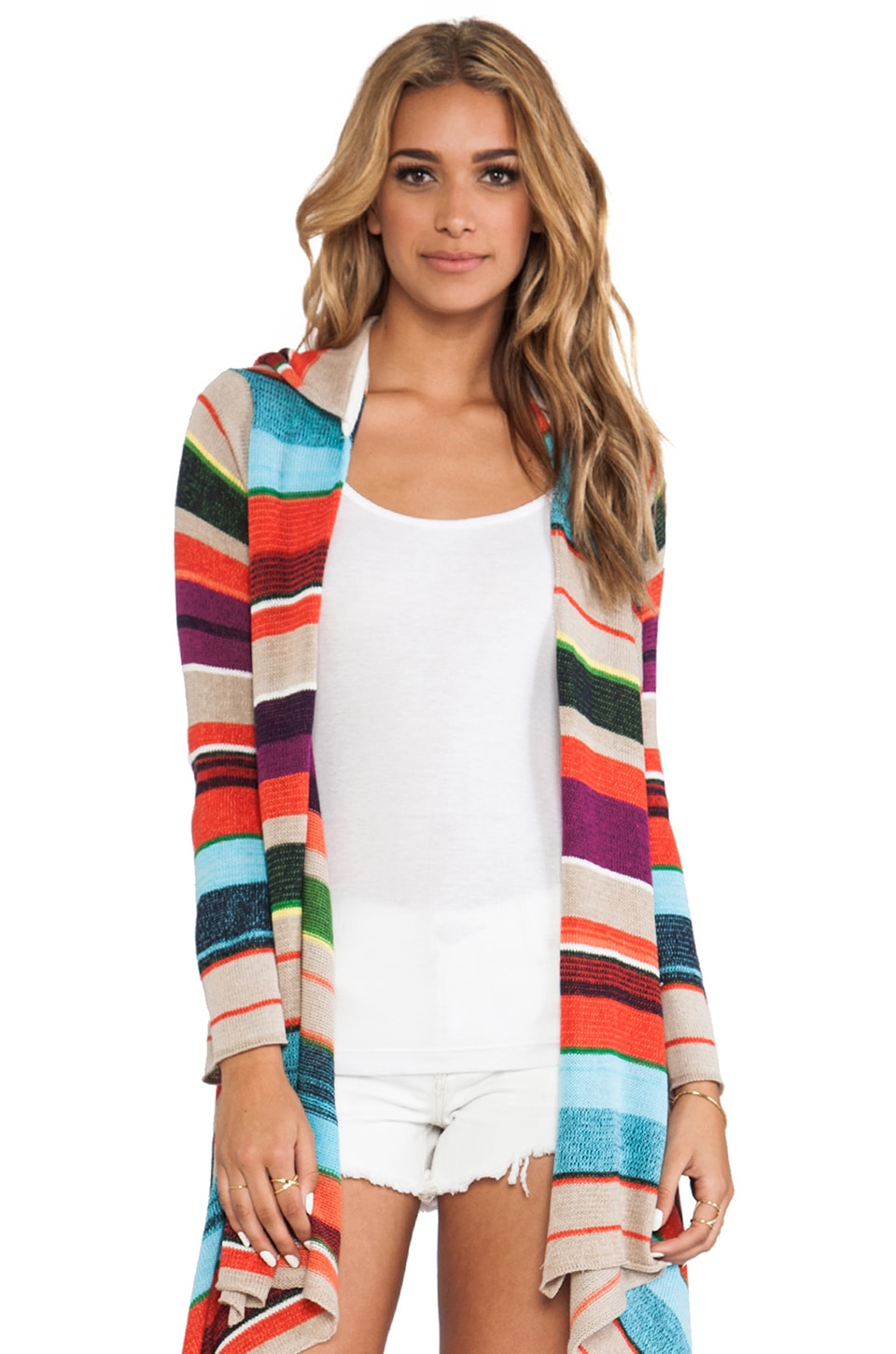 Goddis Linsey Wrap Sweater in River Rock