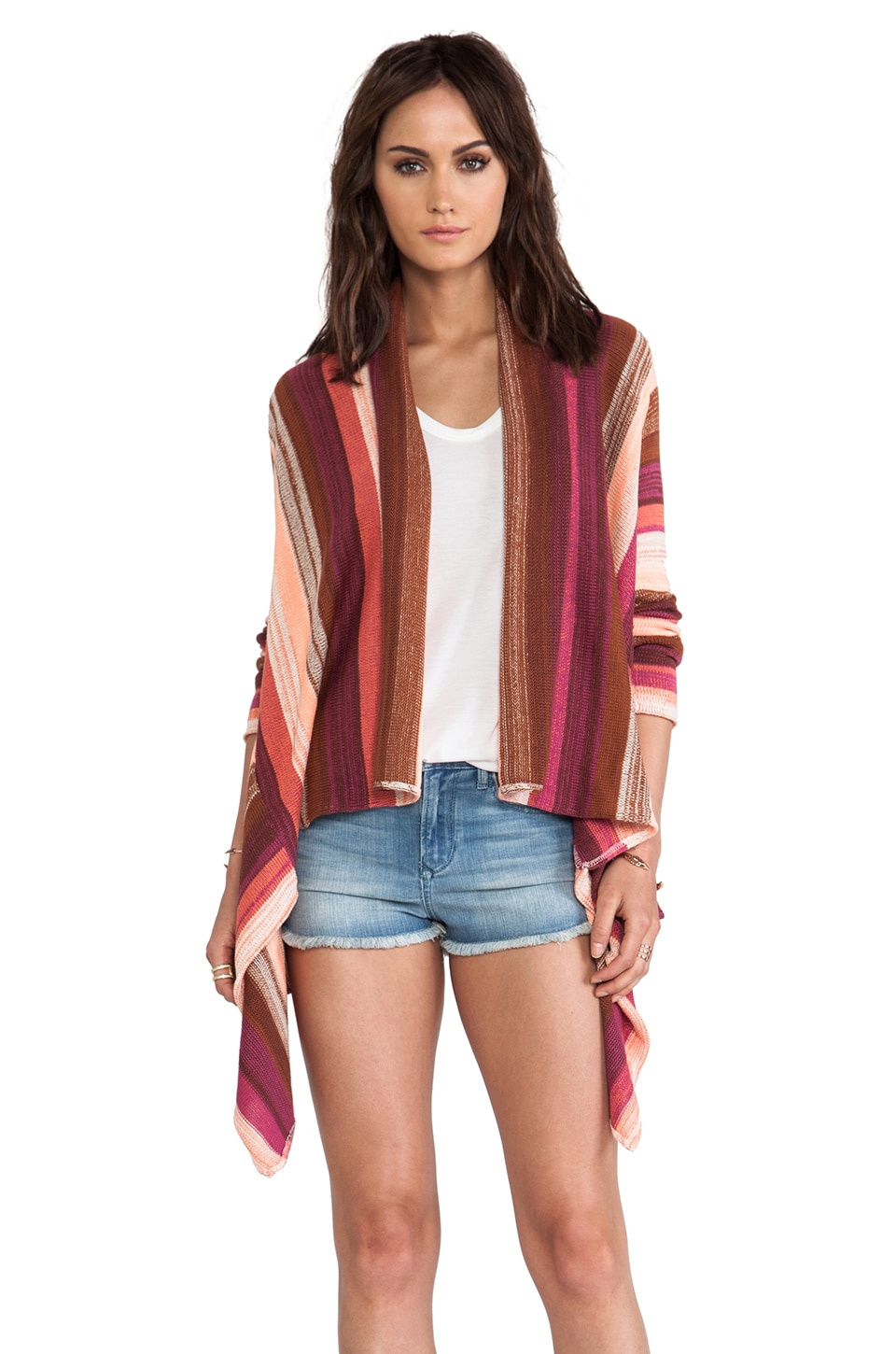 Goddis Livie Wrap Sweater in Sunstone