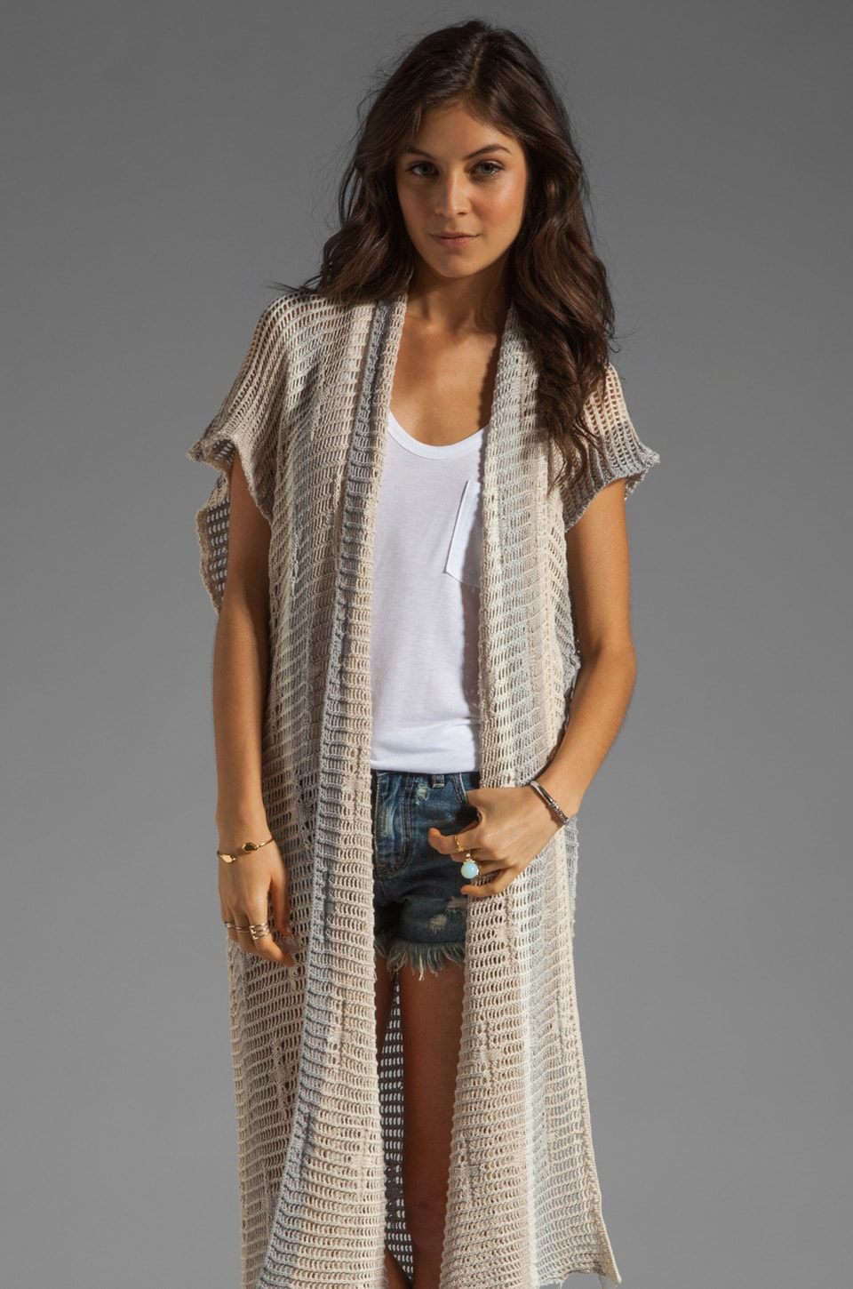 Goddis Willa Cardigan in Boardwalk