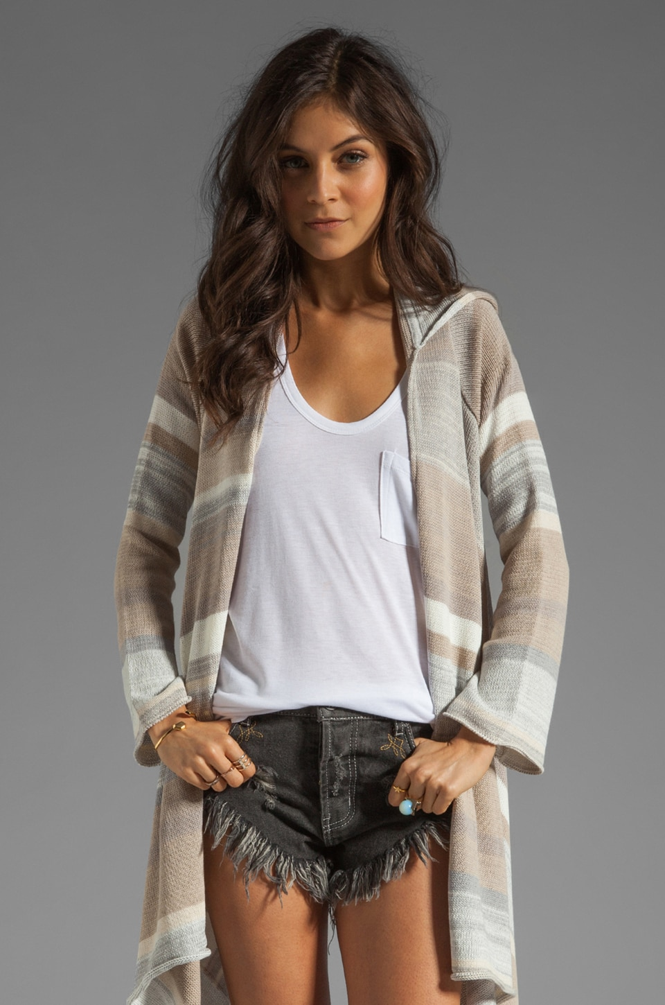 Goddis Leona Cardigan in Boardwalk
