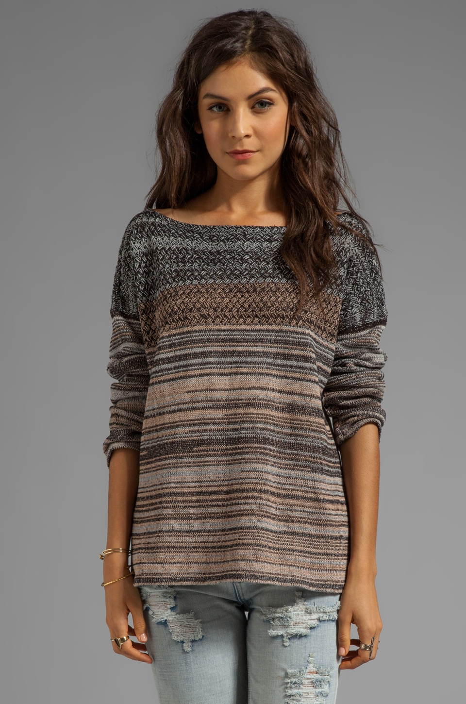 Goddis Kaylee Sweater in Steel Sky