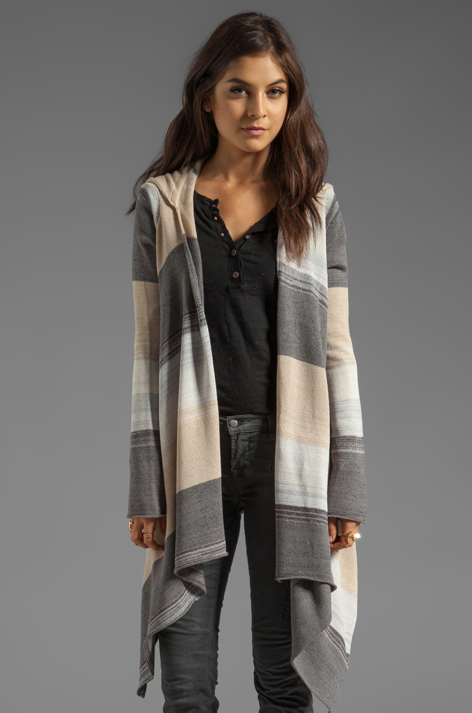 Goddis Leona Cardigan in Razor Grey