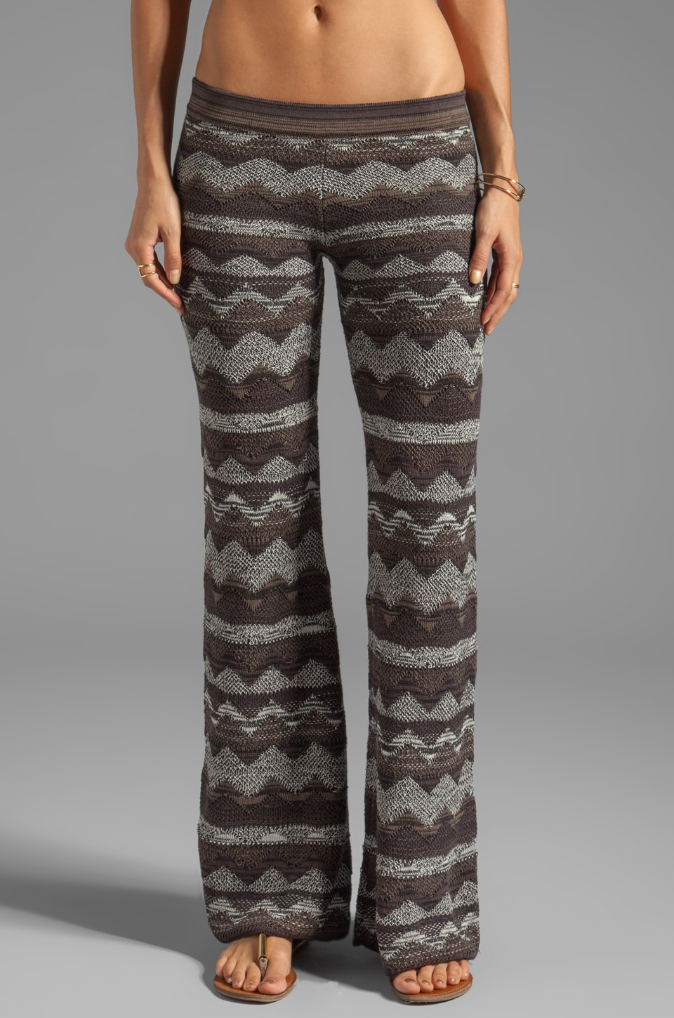 Goddis Dallas Wide Leg Pant in Teak