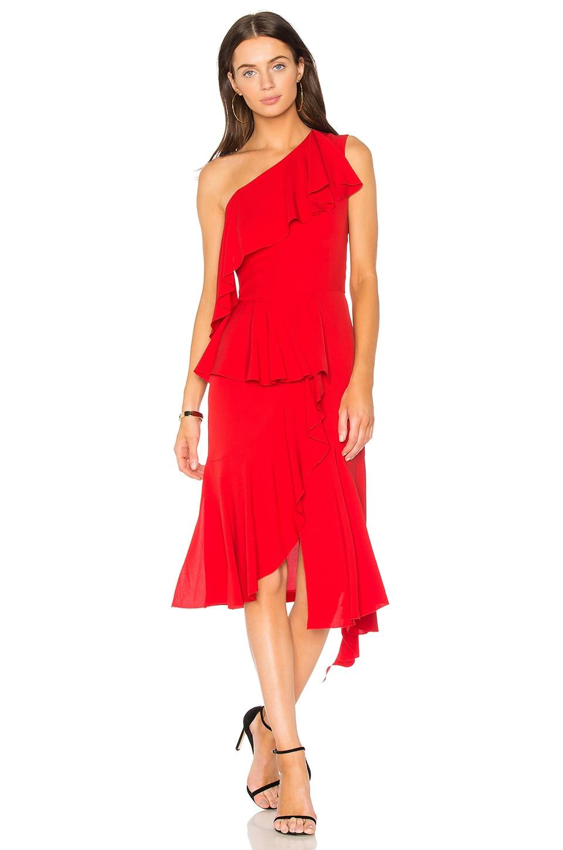One Shoulder Asymmetrical Dress by GOEN.J