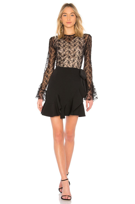 GOEN.J Lace Long Sleeve Dress in Black