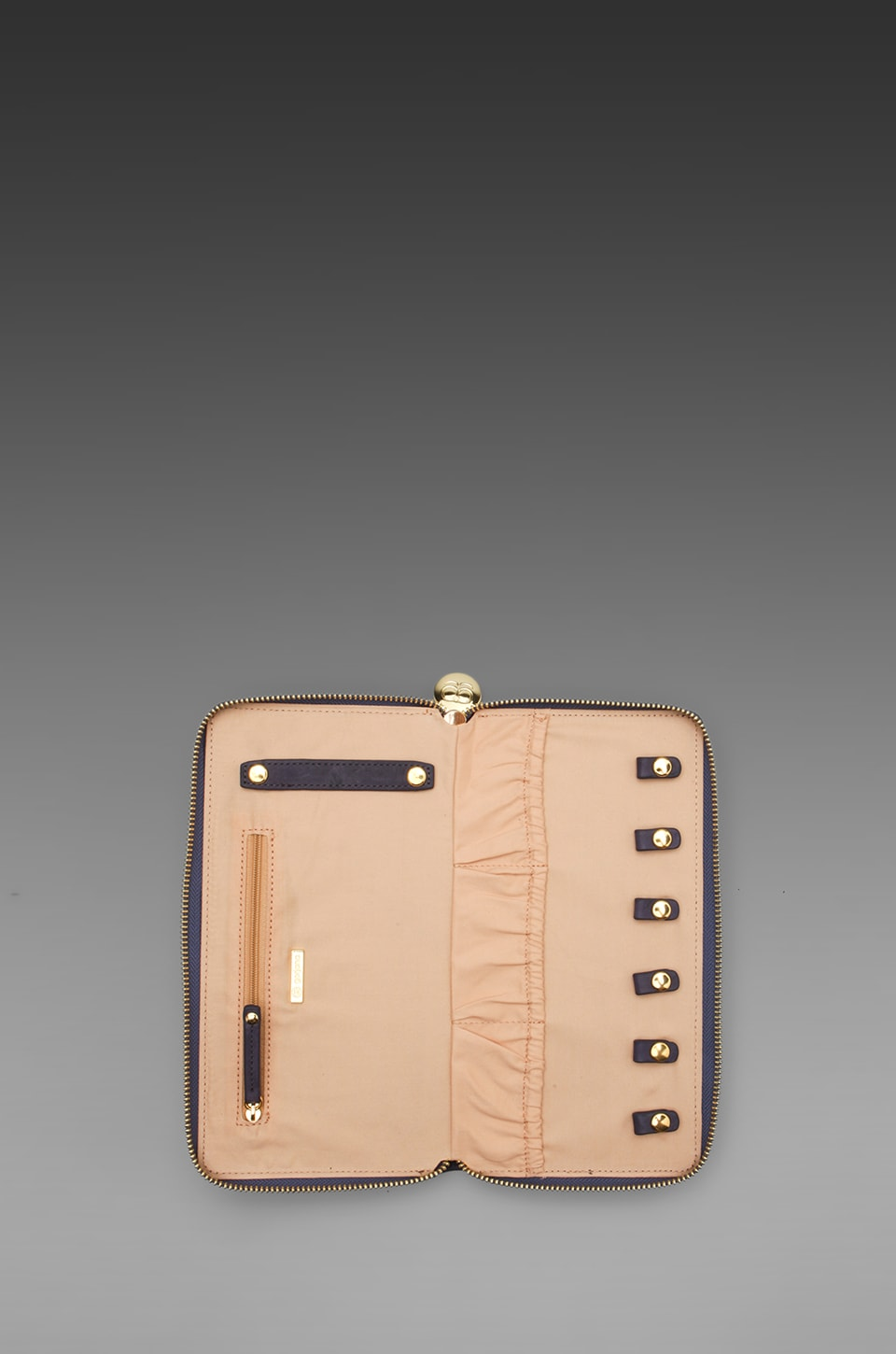 gorjana Thompson Jewelry Wallet in Indigo/Pale Peach