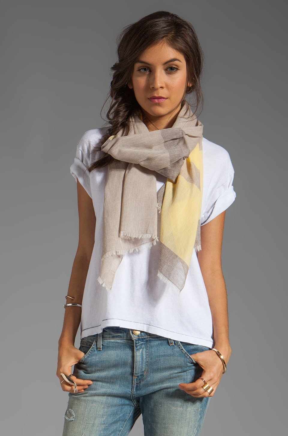 gorjana Uptown Scarf in Yellow Combo