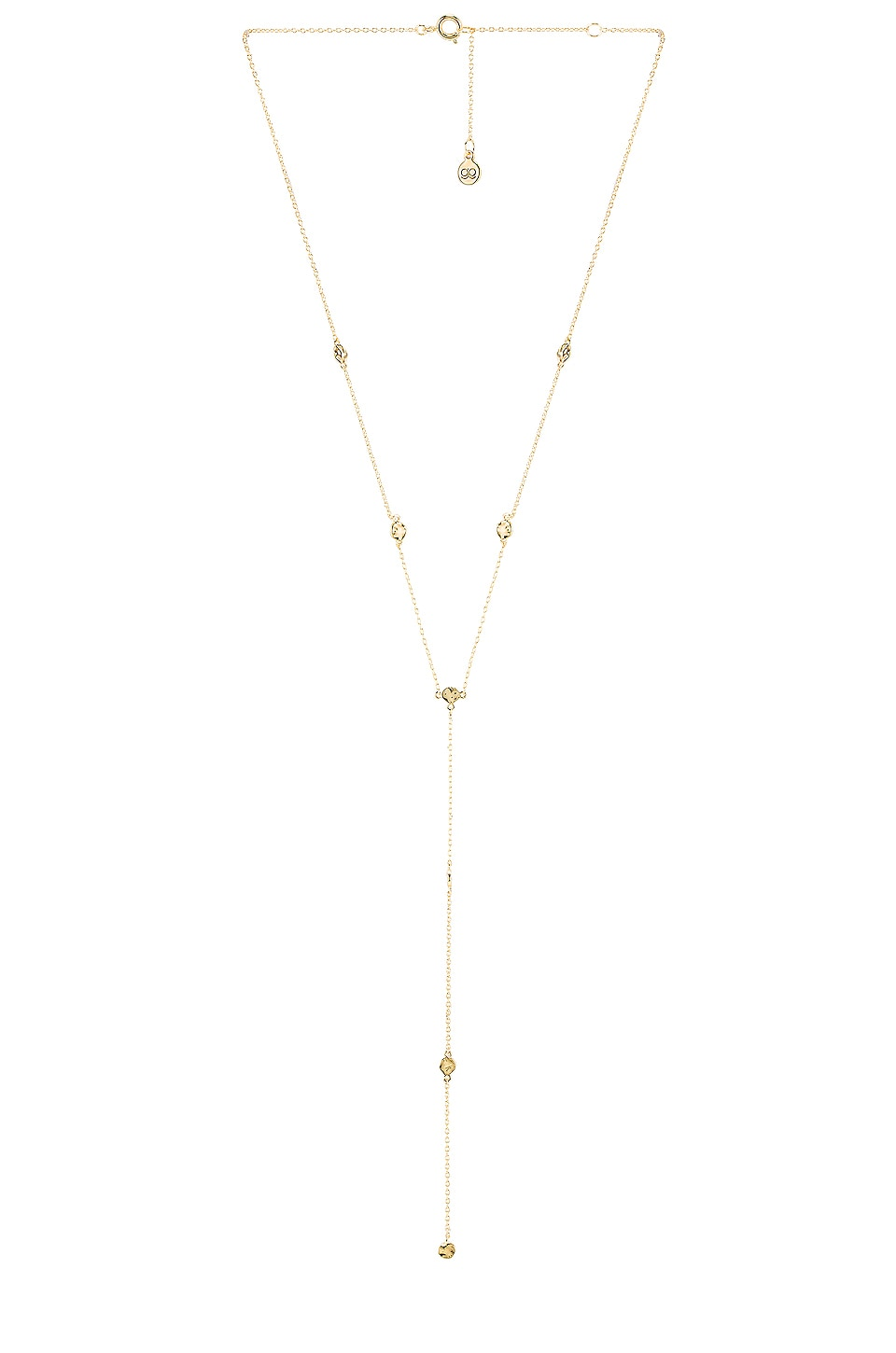 gorjana Chloe Short Lariat Necklace in Gold