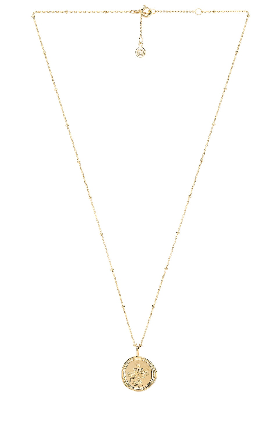 gorjana Compass Coin Necklace in Gold