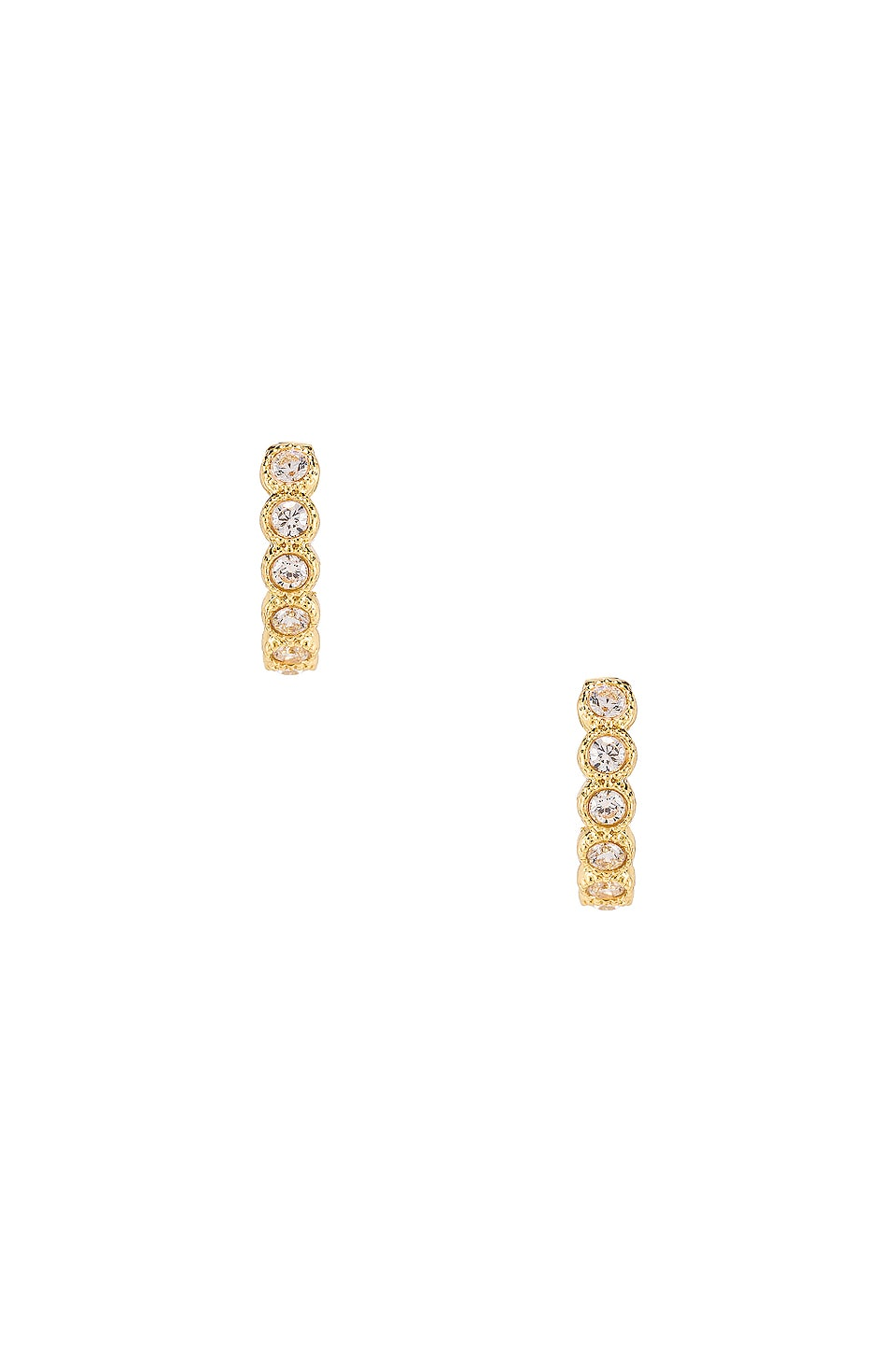 gorjana Madison Shimmer Huggie Earrings in Gold