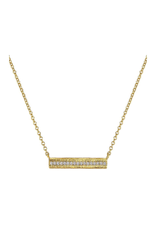 gorjana Nia Shimmer Bar Necklace in White CZ & Gold